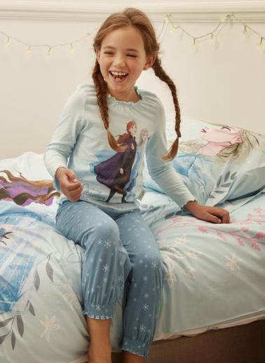Marks & Spencer Disney Frozen Pijama Takımı Mavi